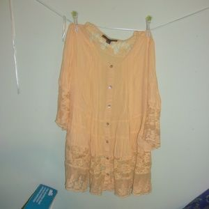 Long and Lacey Boho Blouse